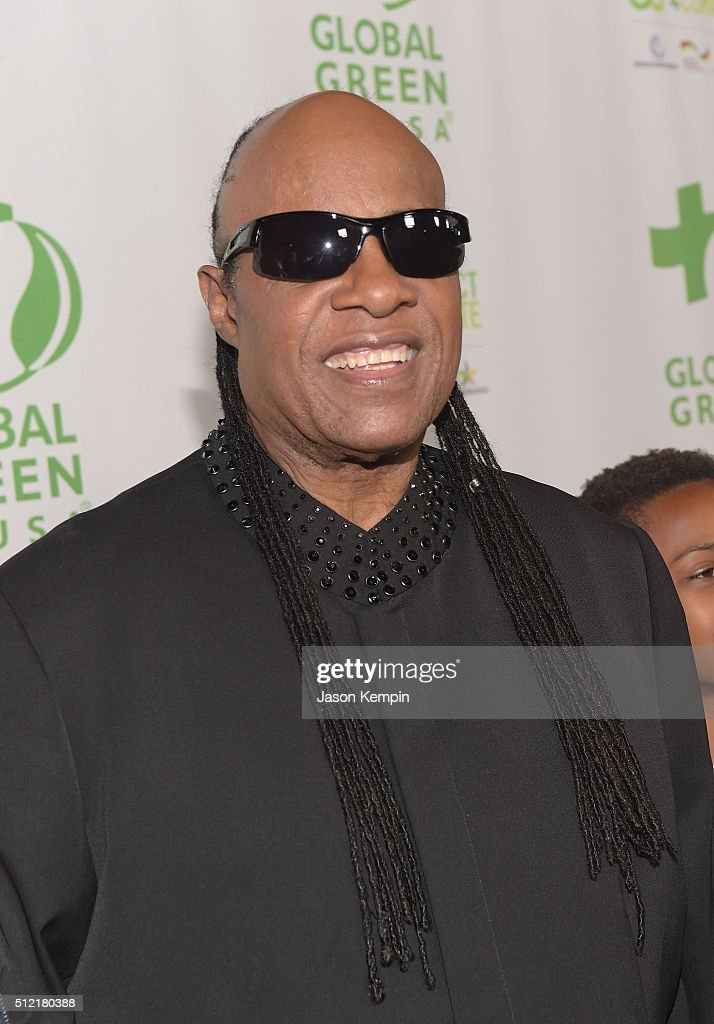 Stevie Wonder attends Global Green USA's 13th Annual Pre-Oscar Party at Mr. C Beverly Hills on February 24, 2016 in Beverly Hills, California.