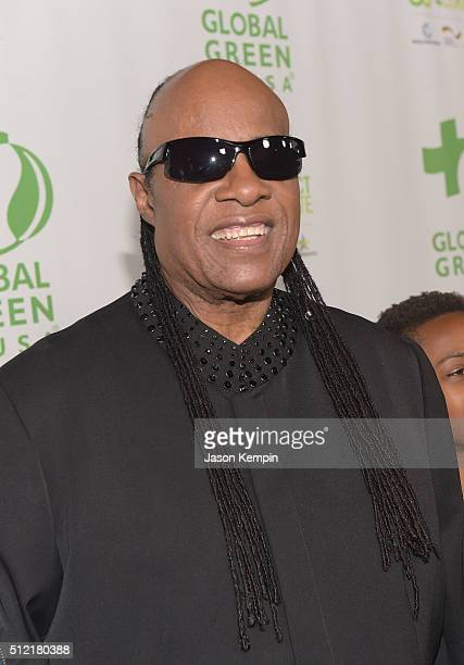 Stevie Wonder attends Global Green USA's 13th Annual PreOscar Party at Mr C Beverly Hills on February 24 2016 in Beverly Hills California