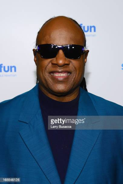 Stevie Wonder attends SeriousFun Children's Network event honoring Liz Robbins with celebrity guests at Pier Sixty at Chelsea Piers on April 4 2013...
