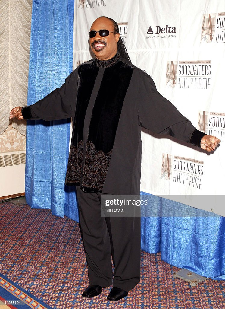 Stevie Wonder during 33rd Annual Songwriters Hall of Fame Awards at Sheraton Hotel in New York City, New York, United States.