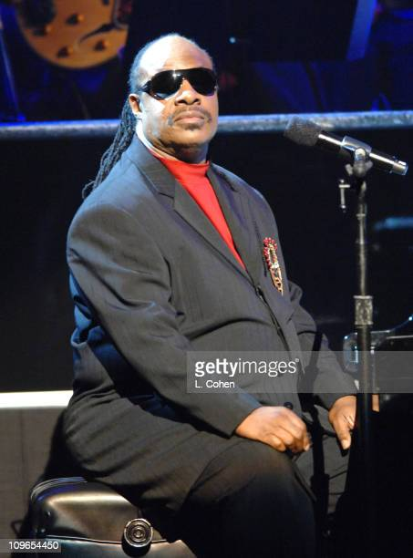 Stevie Wonder during Singers and Songs Celebrate Tony Bennett's 80th to Benefit Paul Newman's Hole in the Wall Camps Show at Kodak Theatre in...