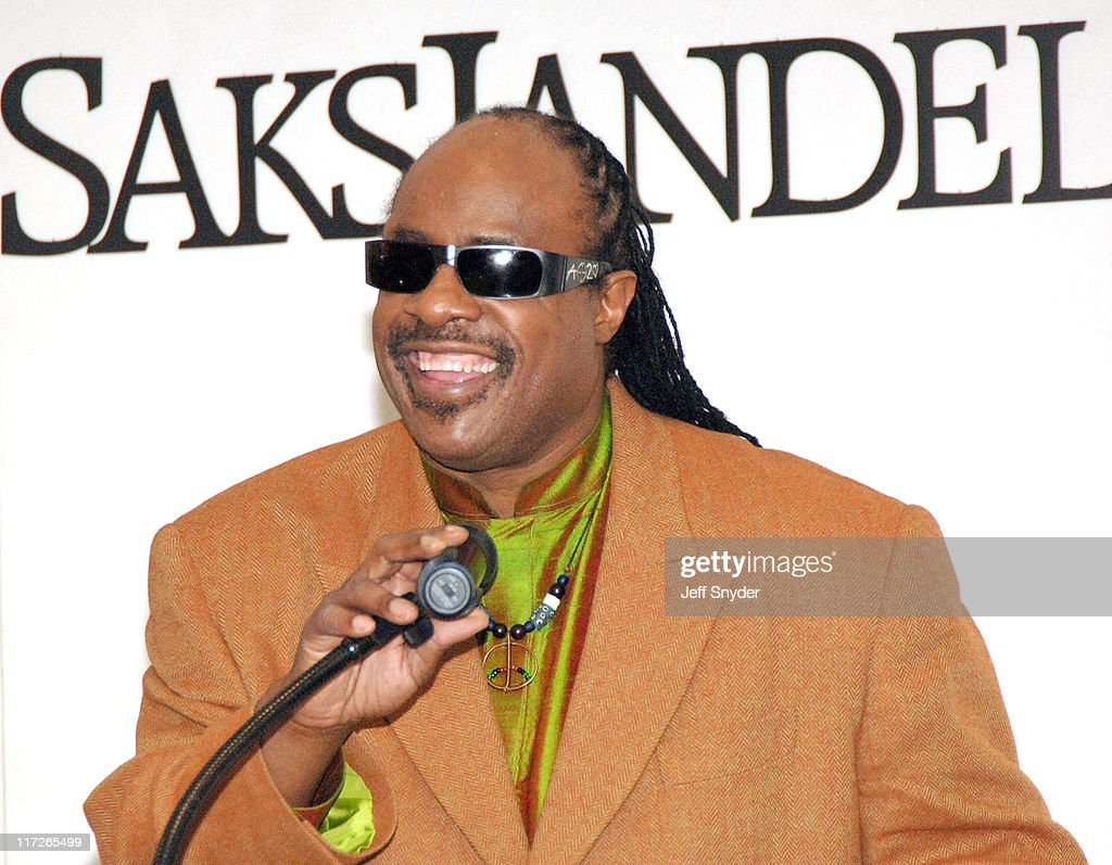 Stevie Wonder during Stevie Wonder Attends His Wife Kai Milla's Fashion Show - December 11, 2005 at Saks Jandel in Washington, D.C., -, United States.