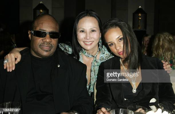 Stevie Wonder Eva Chow and Alicia Keys at the Gucci Spring 2006 Fashion Show to Benefit Children's Action Network and Westside Children's Center