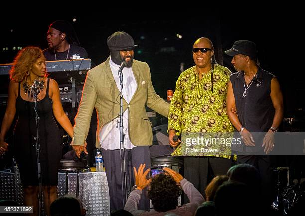 Stevie wonder children stock photos and pictures getty images - Gregory porter concert france ...