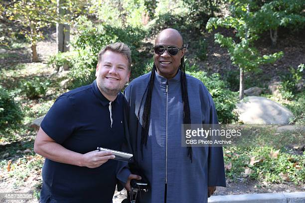 Stevie Wonder joins James Corden for Carpool Karaoke on 'The Late Late Show with James Corden' Monday September 14 on the CBS Television Network