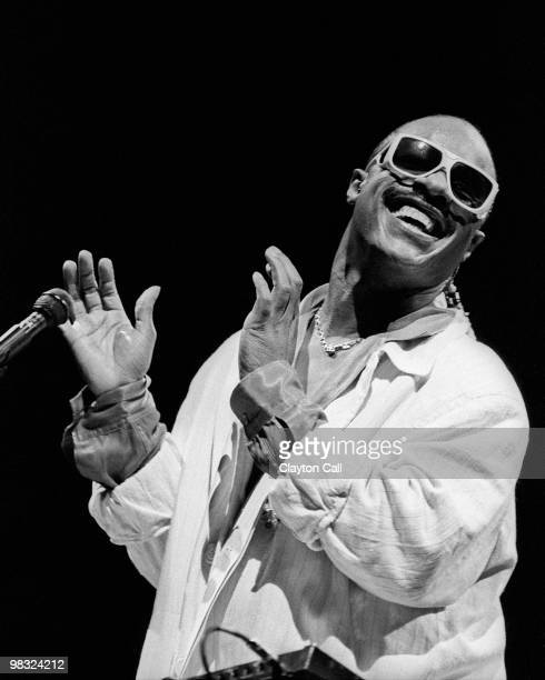 Stevie Wonder performing at the Oakland Coliseum on June 16 1985