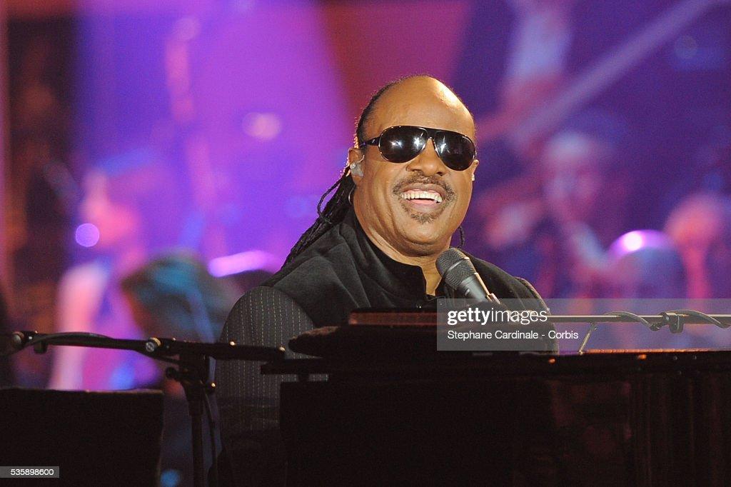 Stevie Wonder performs at the '25th Victoires de la Musique' ceremony, held at the Zenith in Paris.