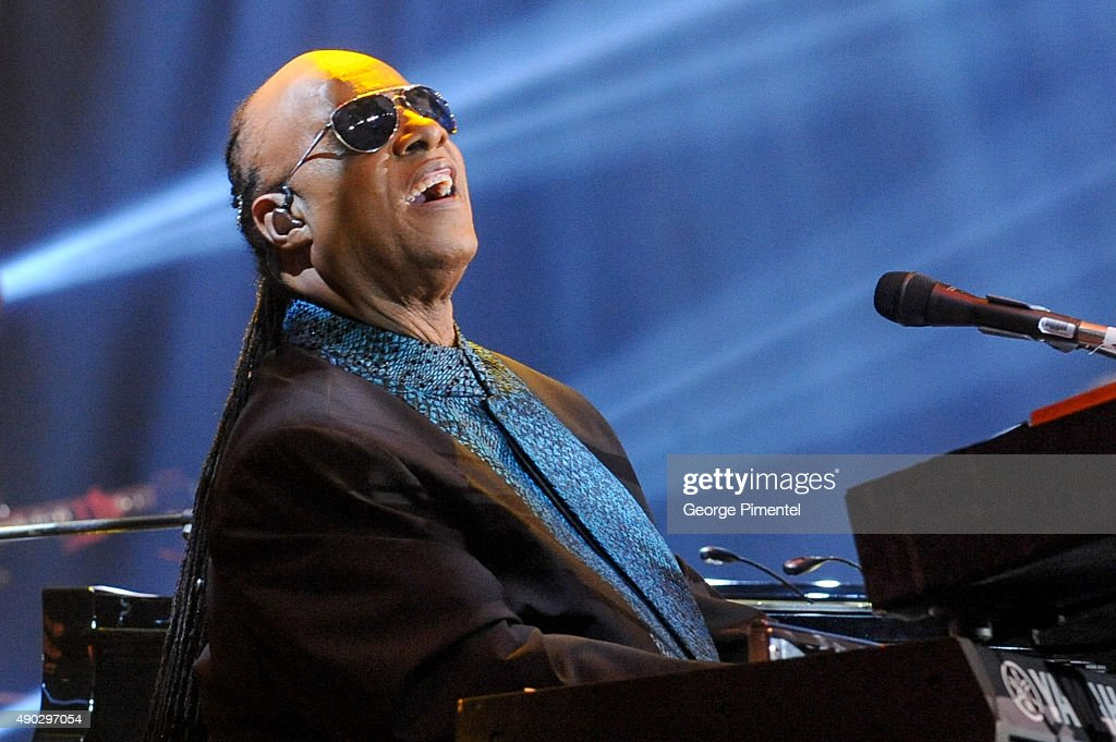 Stevie Wonder performs at the David Foster Foundation Miracle Gala And Concert held at Mattamy Athletic Centre on September 26, 2015 in Toronto, Canada.
