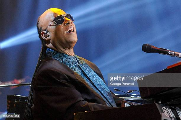 Stevie Wonder performs at the David Foster Foundation Miracle Gala And Concert held at Mattamy Athletic Centre on September 26 2015 in Toronto Canada