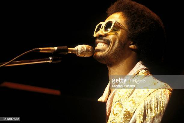 Stevie Wonder performs on stage at Madison Square Garden New York December 1979