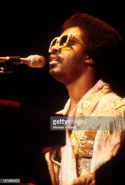 Stevie Wonder performs on stage at Madison Square Garden New York December 1979