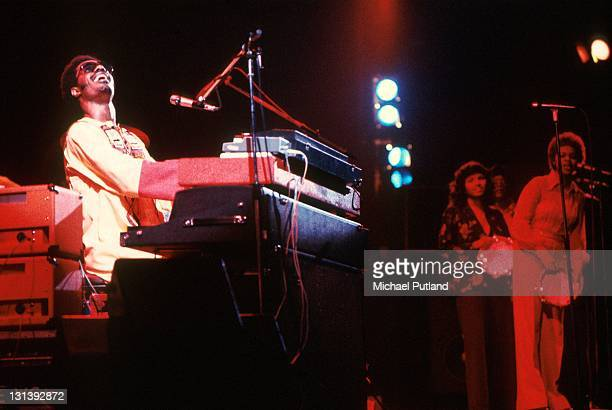 Stevie Wonder performs on stage at the Rainbow Theatre London 29th Janaury 1974