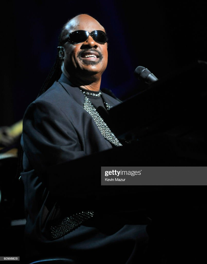 Stevie Wonder performs on stage for the 25th Anniversary Rock & Roll Hall of Fame Concert at Madison Square Garden on October 29, 2009 in New York City.