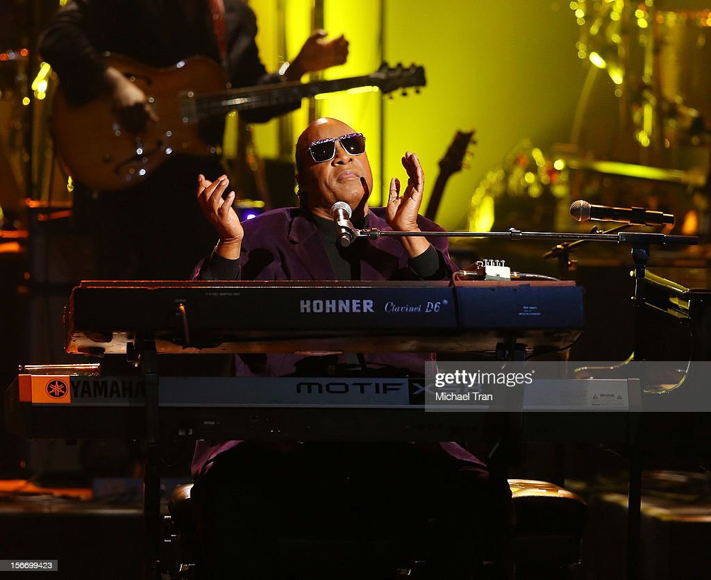 <a gi-track='captionPersonalityLinkClicked' href=/galleries/search?phrase=Stevie+Wonder&family=editorial&specificpeople=171911 ng-click='$event.stopPropagation()'>Stevie Wonder</a> performs onstage at The 40th American Music Awards held at Nokia Theatre L.A. Live on November 18, 2012 in Los Angeles, California.