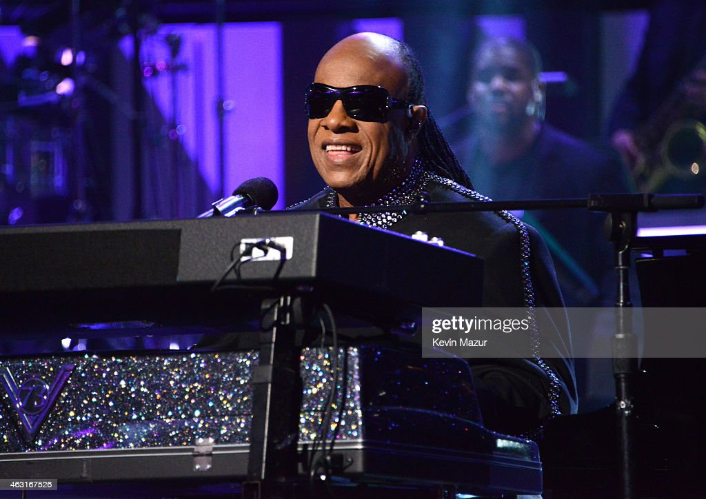 Stevie Wonder performs onstage during Stevie Wonder: Songs In The Key Of Life - An All-Star GRAMMY Salute at Nokia Theatre L.A. Live on February 10, 2015 in Los Angeles, California.