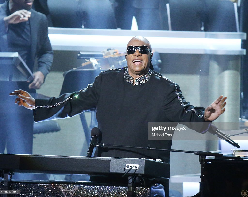 Stevie Wonder performs onstage during the Stevie Wonder: Songs In The Key Of Life - An All-Star GRAMMY Salute held at Nokia Theatre L.A. Live on February 10, 2015 in Los Angeles, California.