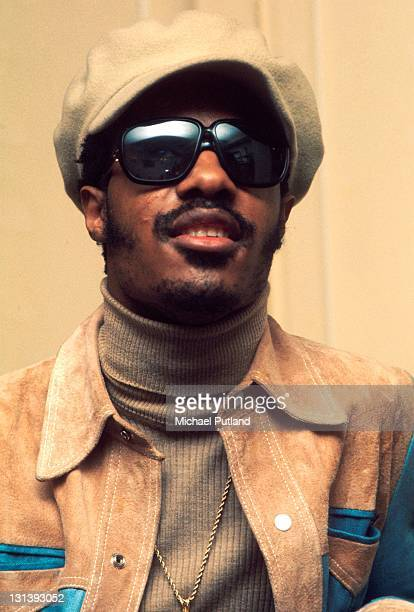 Stevie Wonder portrait being interviewed London 29th January 1974