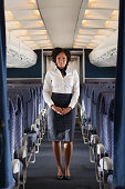 Stewardess on airplane
