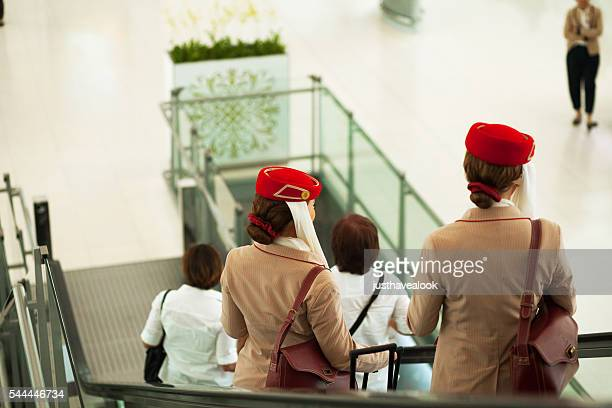 Stewardesses of Emirates airlines