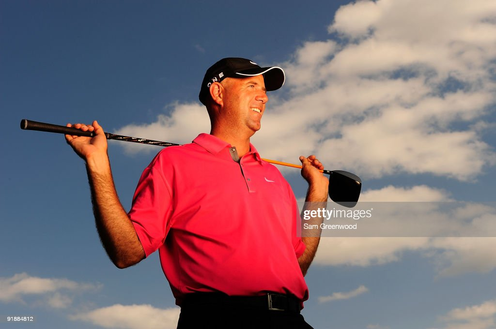 Stewart Cink poses for a portrait prior to the WGC-Bridgestone Invitational on the South Course at Firestone Country Club on August 5, 2009 in Akron, Ohio.