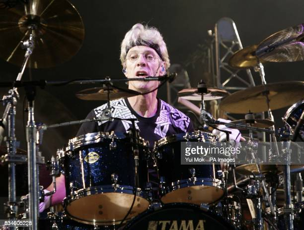 Stewart Copeland of The Police performs at the Isle of Wight Festival 2008 at Seaclose Park on the Isle of Wight