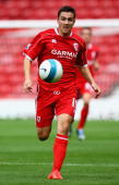 Stewart Downing of Middlesbrough during the preseason friendly match between Middlesbrough and AZ Alkmaar at the Riverside Stadium on August 4 2007...