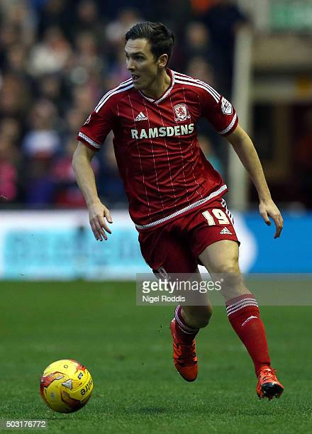 Stewart Downing of Middlesbrough during the Sky Bet Championship soccer match between Middlesbrough and Derby County on January 2 2016 in...