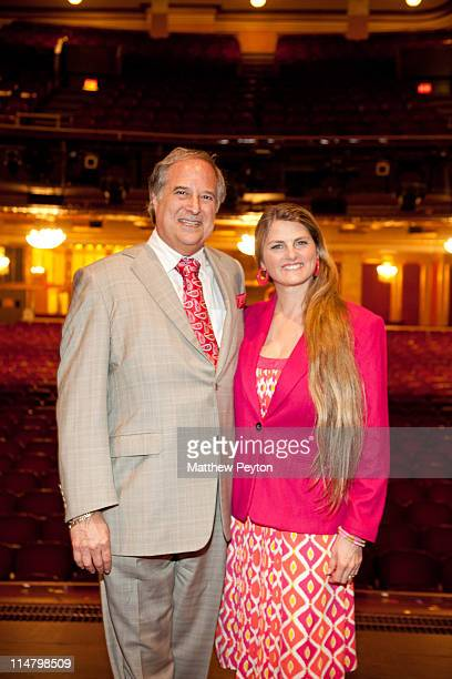 Stewart F Lane aka Mr Broadway and producer Bonnie Comley attend The Drama League Coffee Club hosted by Bonnie Comley and Stewart F Lane at The...
