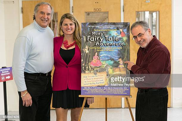 Stewart F Lane aka 'Mr Broadway' Bonnie Comley and Sandy Hinden attend Moey's Fairytale Adventure World Premiere at Dix Hills Performing Arts Center...
