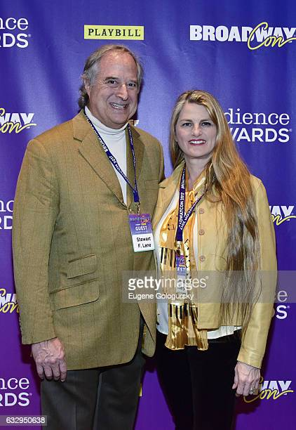 Stewart F Lane and Bonnie Comley attend BroadwayCon 2017 at The Jacob K Javits Convention Center on January 28 2017 in New York City