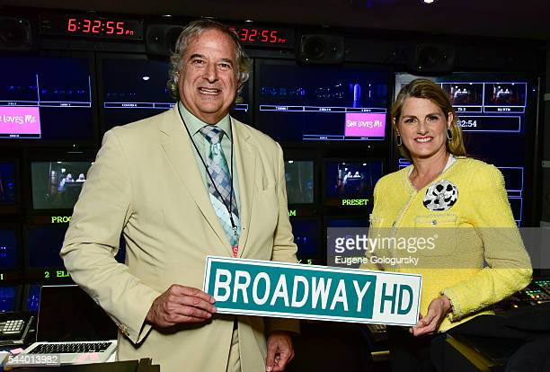 Stewart F Lane and Bonnie Comley attend BroadwayHD Makes History With First Broadway Show Live Stream at Studio 54 on June 30 2016 in New York City