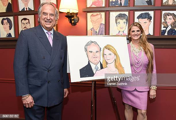 Stewart F Lane And Bonnie Comley pose during their Sardi's Portraits Unveiling at Sardi's on January 21 2016 in New York City