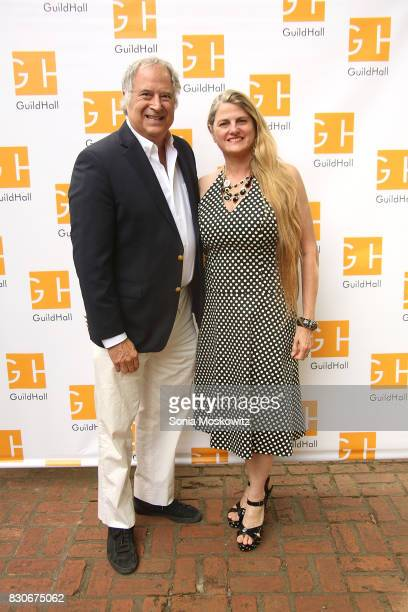 Stewart Lane and Bonnie Comley attend the Guild Hall Summer Gala 2017 at Guild Hall and private residence on August 11 2017 in East Hampton New York