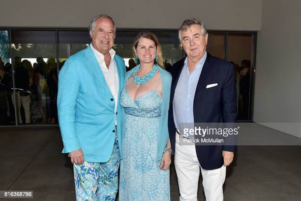 Stewart Lane Bonnie Comley and Yves Dessca attend the Midsummer Party 2017 at Parrish Art Museum on July 15 2017 in Water Mill New York