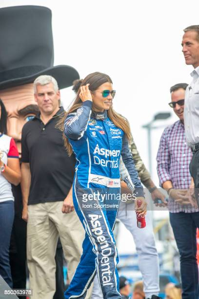 StewartHaas Racing Aspen Dental Ford driver Danica Patrick during the Monster Energy Cup Series Tale of the Turtles 400 driver introductions on...