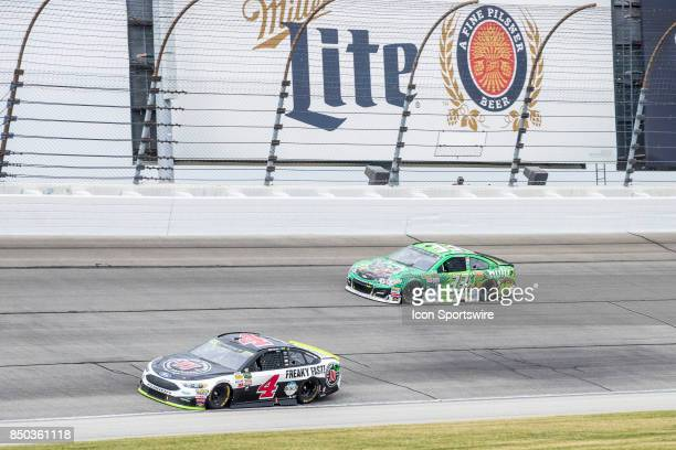 StewartHaas Racing Jimmie John's Ford driver Kevin Harvick and Circle Sport TMG hulu Chevy driver Jeffrey Earnhardt during the Monster Energy Cup...