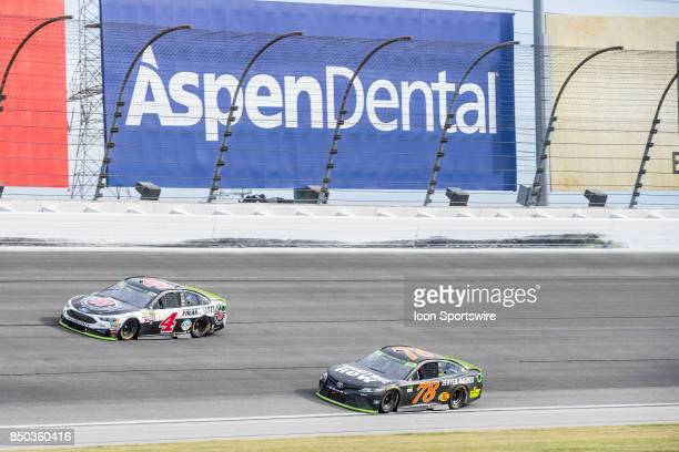 StewartHaas Racing Jimmie John's Ford driver Kevin Harvick and Furniture Row Racing Toyota driver Martin Truex Jr during the Monster Energy Cup...