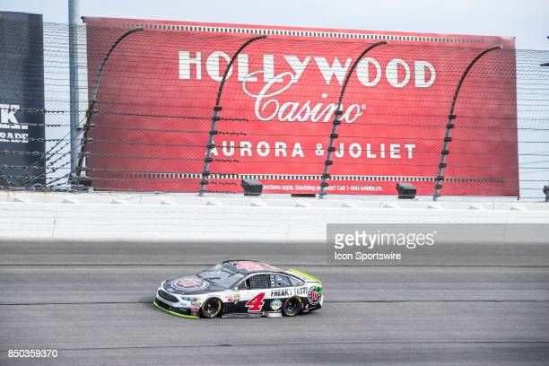 StewartHaas Racing Jimmie John's Ford driver Kevin Harvick during the Monster Energy Cup Series Tale of the Turtles 400 on September 17 at...