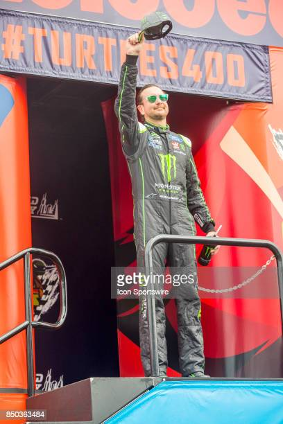 StewartHaas Racing Monster Energy/Haas Automation Ford driver Kurt Busch waves to the fans during the Monster Energy Cup Series Tale of the Turtles...