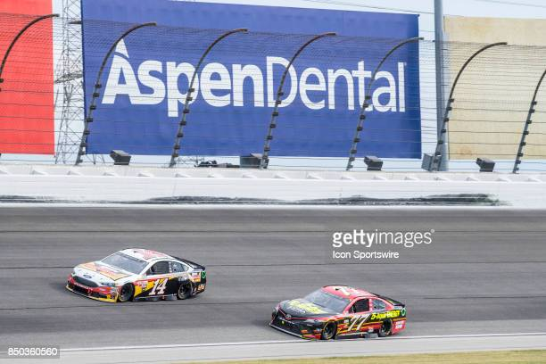 StewartHaas Racing Rush Truck Centers Ford driver Clint Bowyer and Furniture Row Motorsports 5hour ENERGY Extra Strength Toyota driver Erik Jones...
