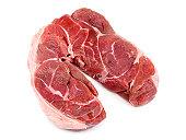 Stewing Steak On White Background