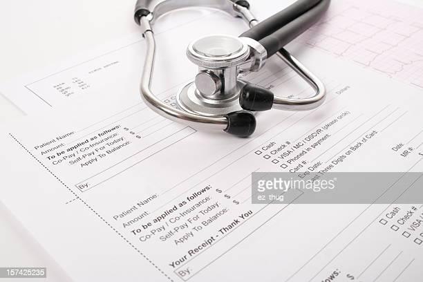 Sthetoscope, EKG and client receipt