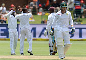 Stiaan van Zyl walks off for 29 runs during day 3 of the 2nd Test match between South Africa and West Indies at St Georges Park on December 28 2014...