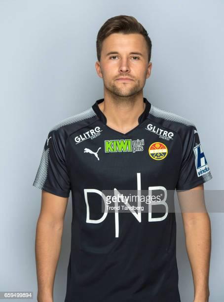 Stian Ringstad of Team Stromsgodset Fotballklubb during Photocall on March 17 2017 in Drammen Norway