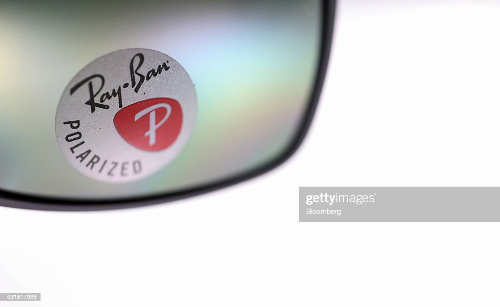 ray ban sunglasses lenses gwhe  A sticker advertising polarized lenses sits on a pair Ray-Ban sunglasses,  manufactured by