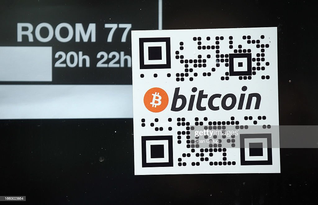 A sticker on the window of a local pub indicates the acceptance of Bitcoins for payment on April 11, 2013 in Berlin, Germany. Bitcoins are a digital currency traded on the MTGox exchange, and the value of the virtual money fluctuated from USD 260 per bitcoin down to USD 130 per bitcoin yesterday and recovered somewhat in trading today.