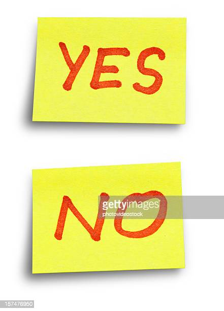 YES NO stickers with Clipping Paths