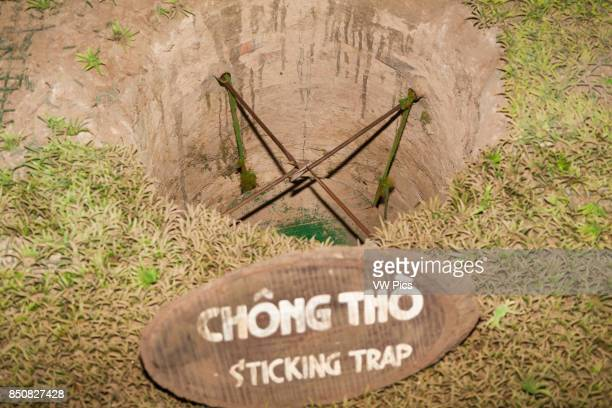 A sticking booby trap at Ben Dinh Cu Chi near Ho Chi Minh City Vietnam