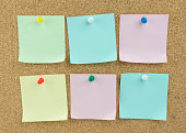 sticky note, paper, cork board, memo, message, note