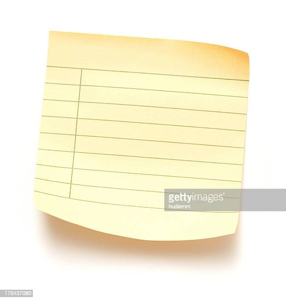 Sticky note paper isolated on white background
